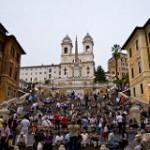 【ローマ スペイン広場】王女アンは普通の女性としてイタリアのローマを満喫